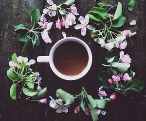 flowers, coffee, and tea image