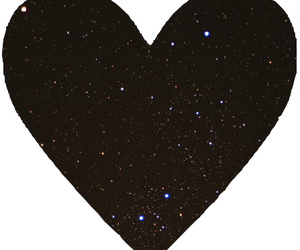 galaxy, heart, and overlay image