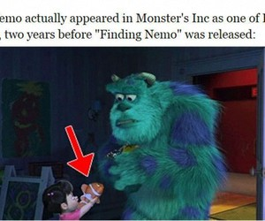 funny, monsters inc, and nemo image