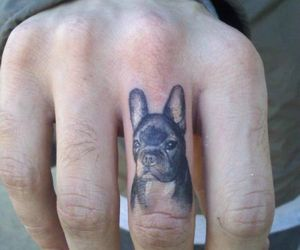 tattoo, dog, and fingers image