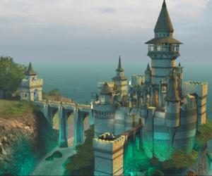 mythical, palace, and royalty image