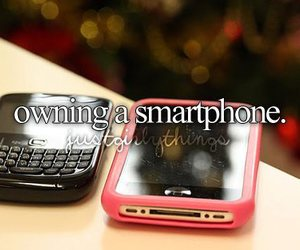 just girly things and smartphone image
