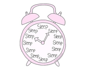 sleep, clock, and pink image