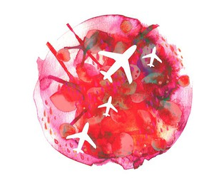 abstract, pink, and wanderlust image