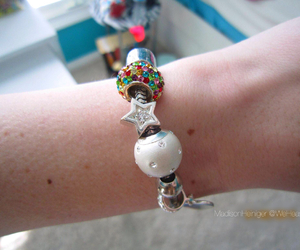 bracelet, jewels, and rainbows image