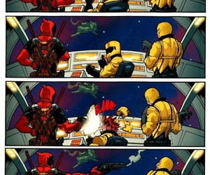deadpool, star wars, and funny image