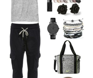 black and grey, clothes, and dress up image