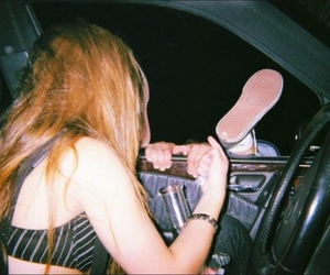 girl, indie, and car image