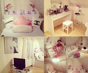 bedroom, chanel, and pink image