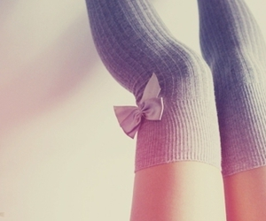 bow, socks, and legs image