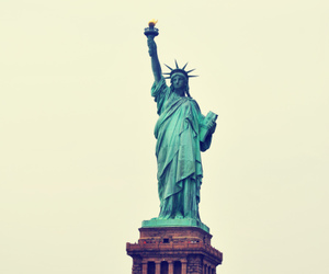 new york, nyc, and statue of liberty image