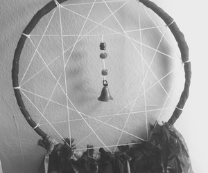black and white, dreamcatcher, and grunge image
