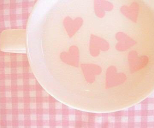 pink, heart, and milk image