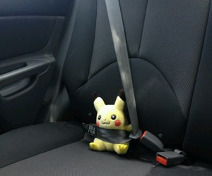 pikachu, car, and hipster image