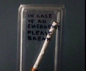 cigarette, smoke, and emergency image