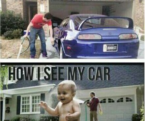 baby, love, and car image