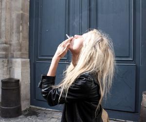 girl, smoking, and blonde image