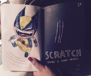 scratch, wolverine, and wreck this journal image