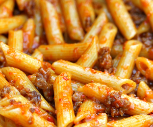 pasta, food, and tomato image