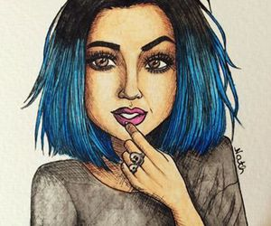 kylie jenner, art, and fashion image