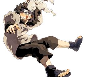 akamaru, kiba, and naruto image
