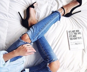 casual, classy, and jeans image