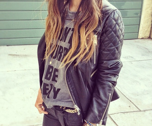 style, leather, and outfit image