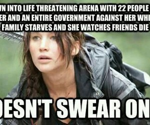 hunger games, katniss, and funny image