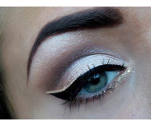 blue, eyeliner, and glitter image