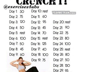 workout, abs, and challenge image
