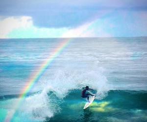 arco iris, beach, and mar image