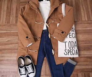 bag, brown, and clothes image
