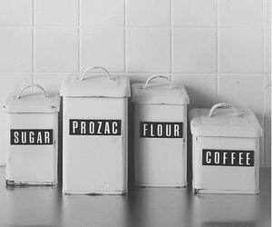 prozac, sugar, and coffee image
