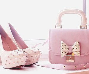 pink, shoes, and bag image