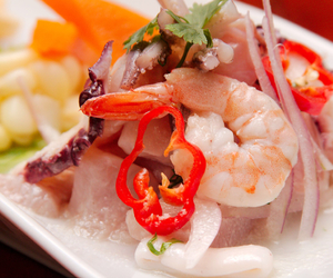 peruvian food and ceviche image
