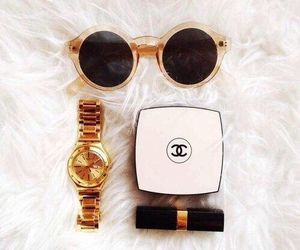 chanel, lipstick, and watch image