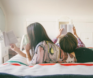 couple, read, and cute image