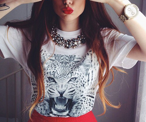 adorable, fashion, and red lips image