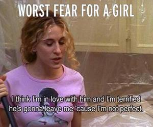 love, girl, and fear image