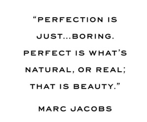 marc jacobs, perfection, and quote image
