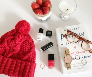 strawberry, book, and style image