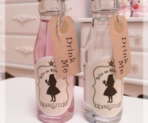 drink me, drink, and alice image