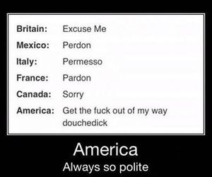 funny, america, and polite image