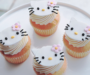 cupcake, hello kitty, and food image
