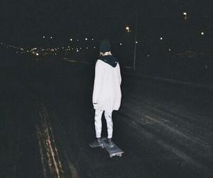 grunge, night, and skate image