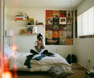 girl, room, and photography image