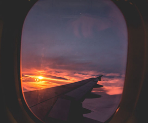 sky, travel, and sunset image
