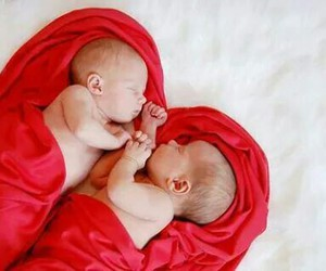 babies, red, and amazing image