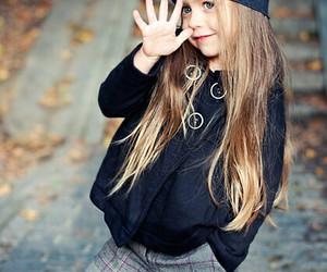 little girl, stylish, and sweet image