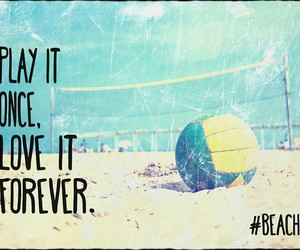 volleyball and love image
